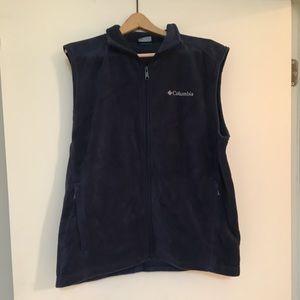 Men's Columbia Fleece Vest, Navy, Size Large